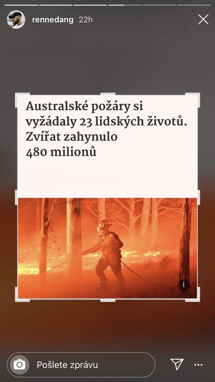 Týnuš Třešničková vybrala 120 tisíc korun na pomoc Austrálii. Kteří další influenceři se rozhodli přispět?