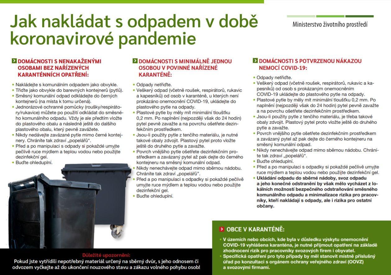 """Třídit odpad smí jen """"zdraví"""", upozorňuje ministerstvo životního prostředí. Použitá rouška patří do sáčku a smíšeného odpadu"""