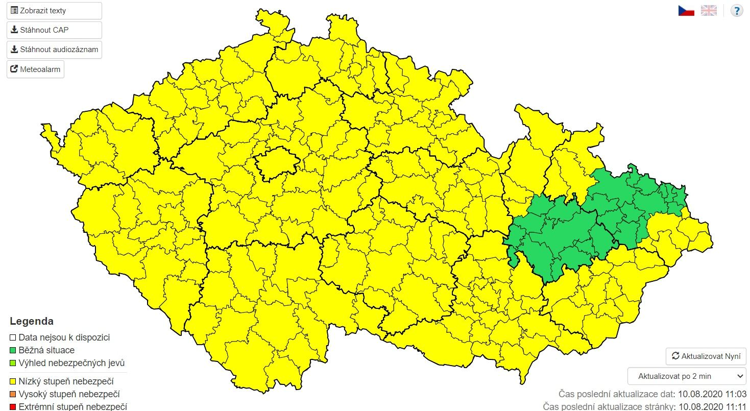 V Česku budou celý týden tropy, v Praze a Brně bude platit teplotní výstraha